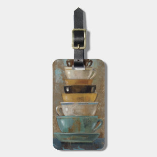 Antique Coffee Cups Luggage Tag