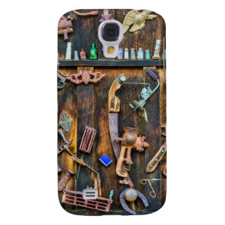 Antique collection on wall galaxy s4 case