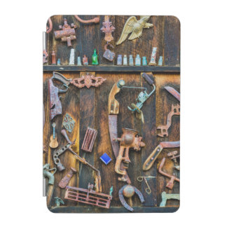 Antique collection on wall iPad mini cover