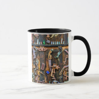 Antique collection on wall mug