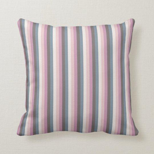 Antique Coloured Stripes Pattern Cushion