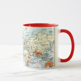 Antique Commercial Map of the World Mug