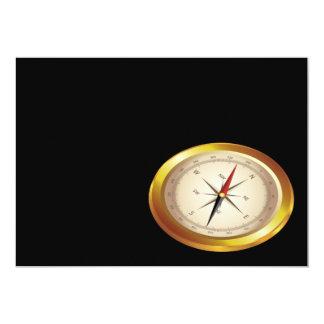 Antique compass 13 cm x 18 cm invitation card