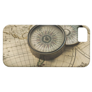 Antique compass on map barely there iPhone 5 case