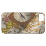 Antique compass on map case for the iPhone 5