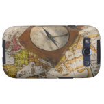 Antique compass on map samsung galaxy s3 cover