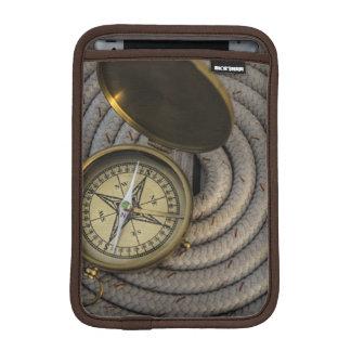 Antique Compass On Sailboat Deck iPad Mini Sleeve