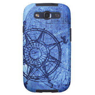 Antique compass rose samsung galaxy SIII cases