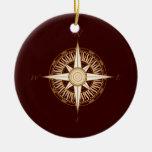 Antique Compass Rose Christmas Ornament