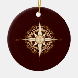 Antique Compass Rose Christmas Ornament