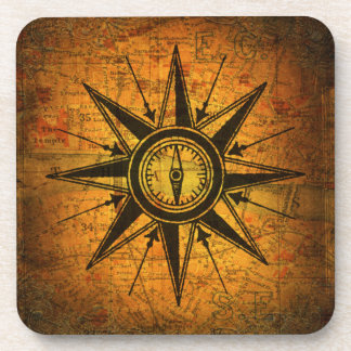 Antique Compass Rose Coaster