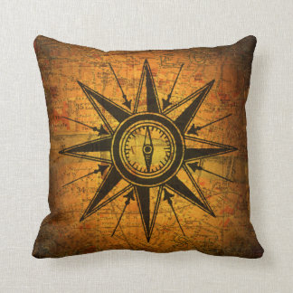Antique Compass Rose Cushion