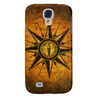 Antique Compass Rose Galaxy S4 Case