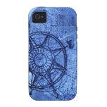 Antique compass rose iPhone 4 case