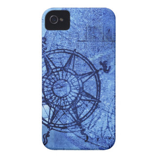 Antique compass rose iPhone 4 Case-Mate cases