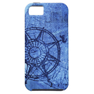 Antique compass rose iPhone 5 cases