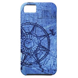 Antique compass rose iPhone 5 cases