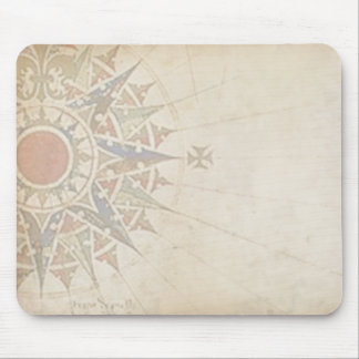 Antique Compass Rose Mouse Mat