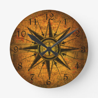 Antique Compass Rose Wallclocks