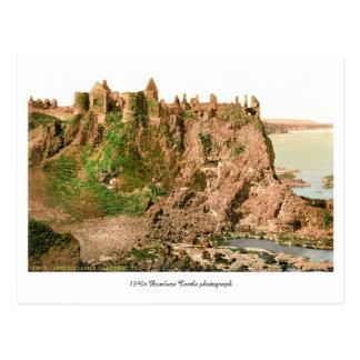 Antique County Antrim Dunluce Castle photo Postcard
