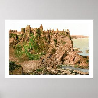 Antique County Antrim Dunluce Castle photo Poster