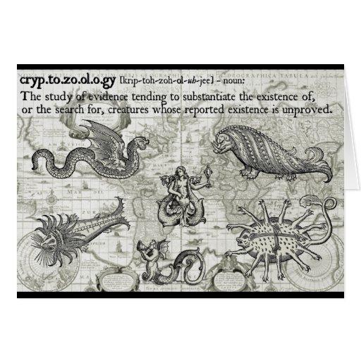 Antique Cryptozoology Card
