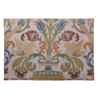 Antique Damask Fabric Placemat