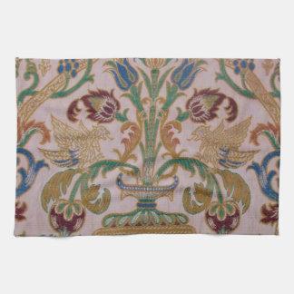 Antique Damask Fabric Tea Towel