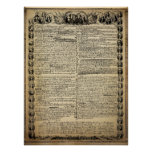 Antique Declaration of Independence Poster