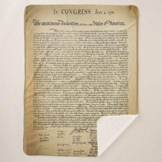 Antique Declaration of Independence Sherpa Blanket