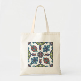 Antique Decorative Flower Floral Design Budget Tote Bag