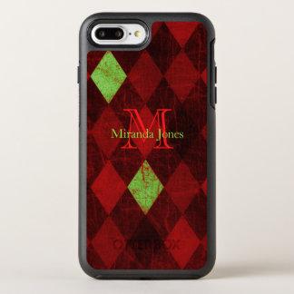 Antique Diamond Pattern Monogram OtterBox Symmetry iPhone 8 Plus/7 Plus Case