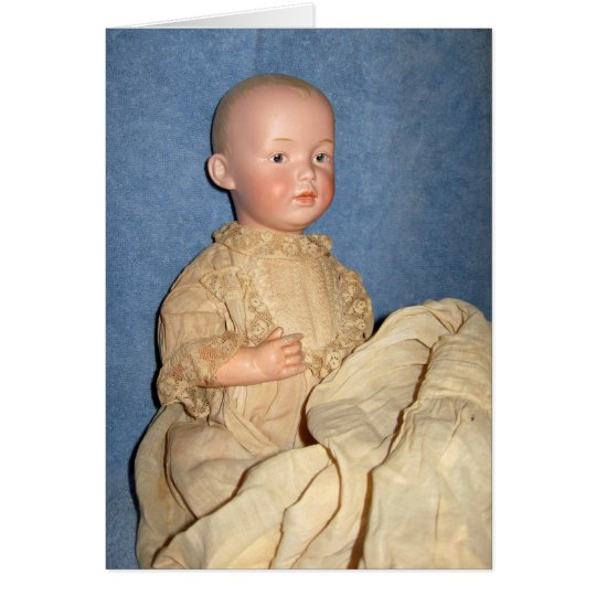 Antique Doll in Christening Gown Greeting Card