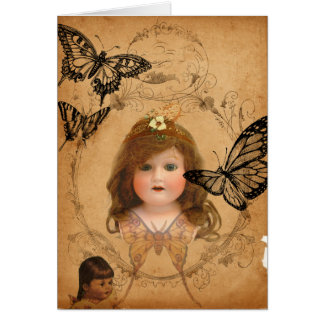 Antique Dolls Birthday Greeting Card
