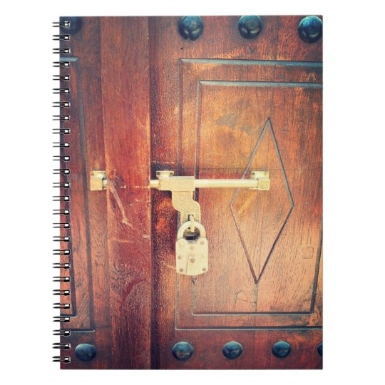 Antique Door in Dubai Spiral Notebook
