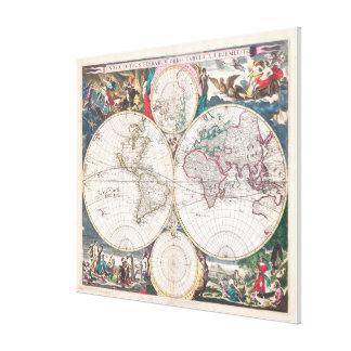 World map wrapped canvas prints zazzle antique double hemisphere world map canvas print gumiabroncs Images