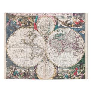 Antique Double-Hemisphere World Map Jigsaw Puzzle