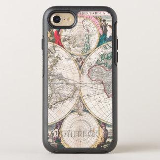 Antique Double-Hemisphere World Map OtterBox Symmetry iPhone 8/7 Case