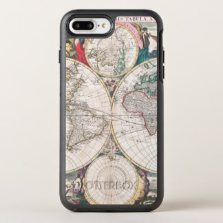 Antique Double-Hemisphere World Map OtterBox Symmetry iPhone 8 Plus/7 Plus Case