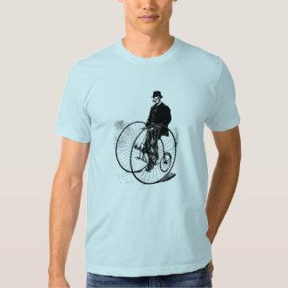 Antique double wheel bicycle men's t-shirt