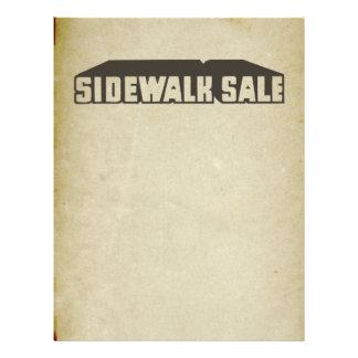 Antique Downtown Sidewalk Sale Graphic Sale Font Flyers