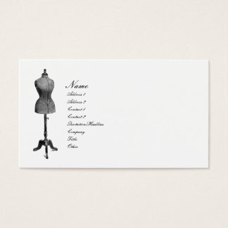 Antique Dress Form Business Card