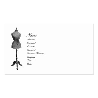 Antique Dress Form Business Cards