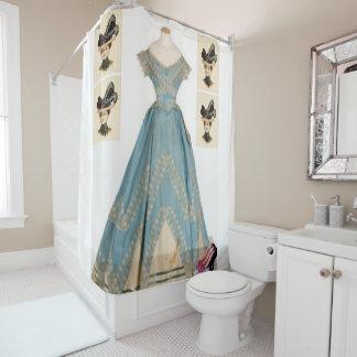 Antique dress shower curtain