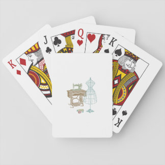 Antique Dressmaker Kit Illustration Playing Cards