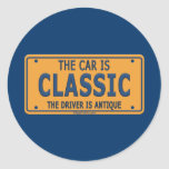Antique Driver Classic Car Stickers