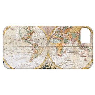Antique Dual Hemisphere World Map iPhone 5 Cover