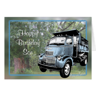 Antique Dump Truck-customize any occasion Cards