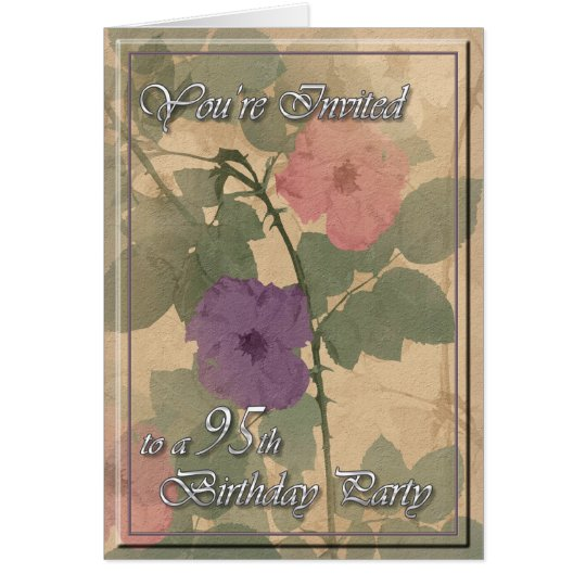 Antique Dusty Rose 95th Birthday Card