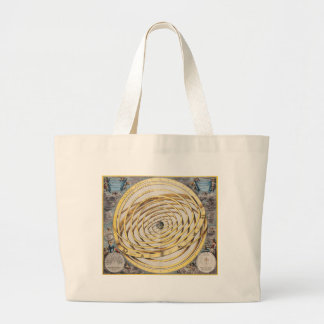 Antique Earth Celestial Map Tote Bag